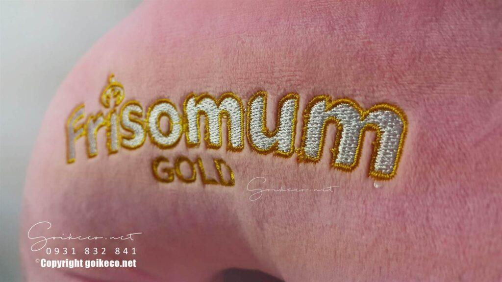 Gối logo frisomum thêu