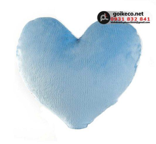 Gối hình trái tim màu xanh