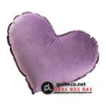 Gối hình trái tim vải Velboa