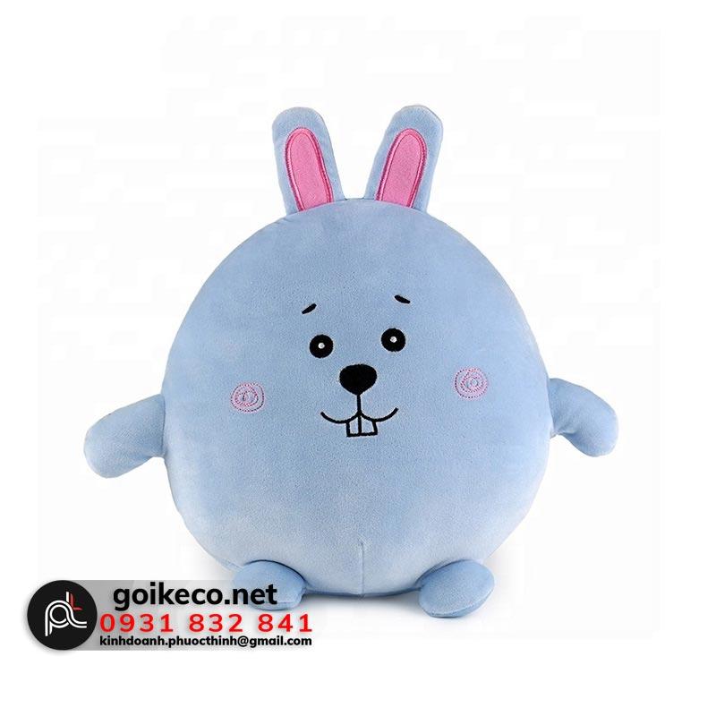 Gối hình thỏ xanh 3D