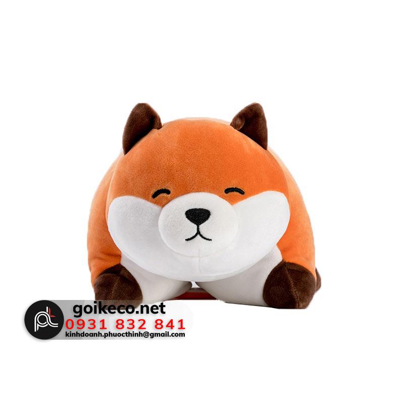 Mặt trước gối 3D hình con cáo