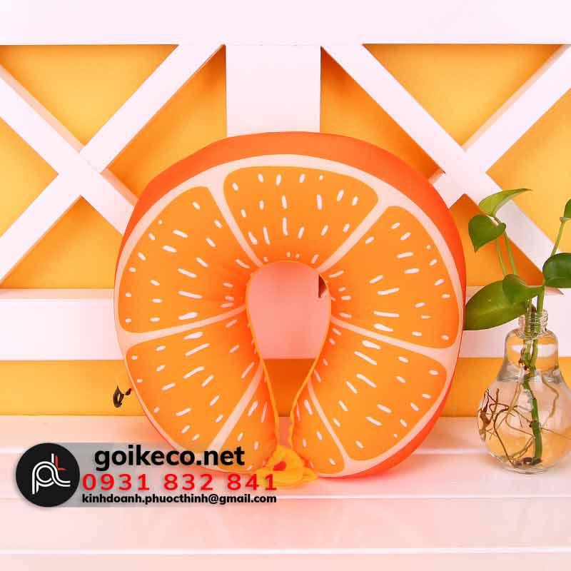 Gối cổ hình trái cam
