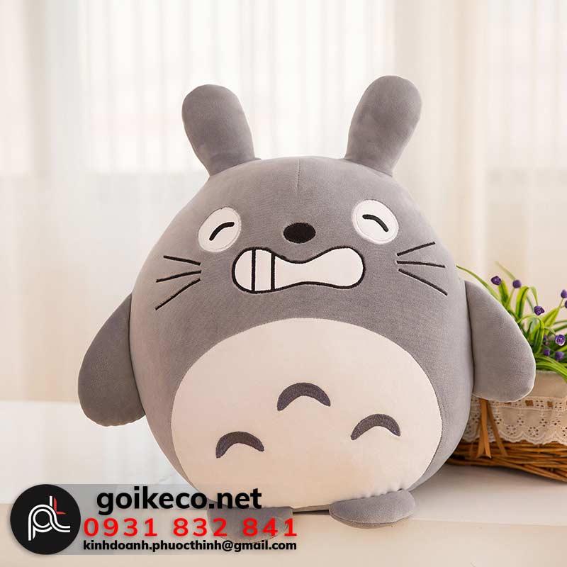 Gối Totoro màu xám