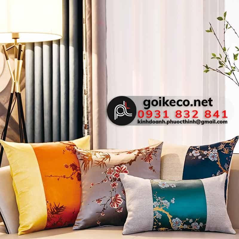 Gối tựa lưng sofa phong cách chiết trung