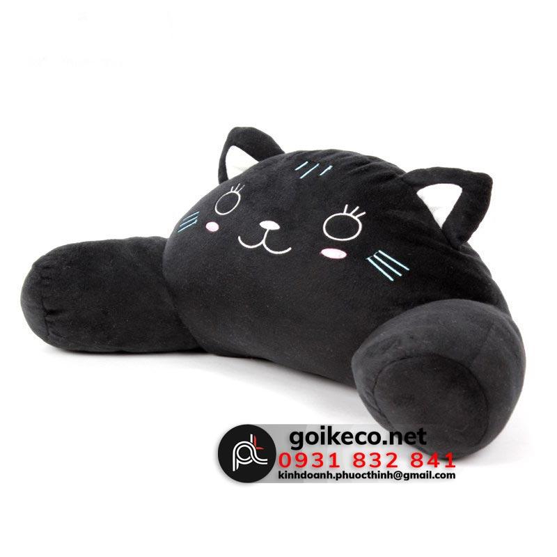 Gối tựa hình mèo đen