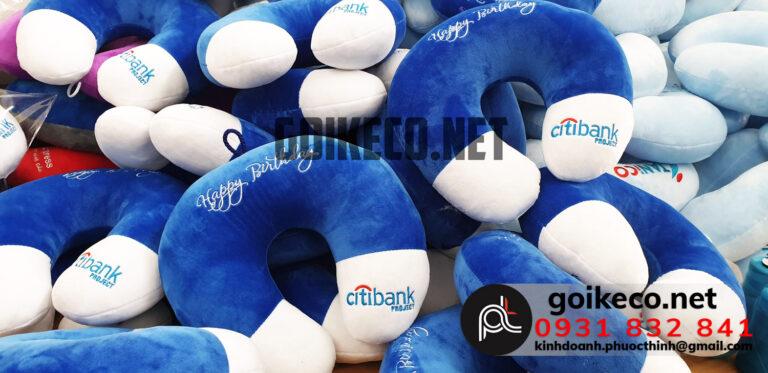 Dự án Gối thêu logo Citi Bank